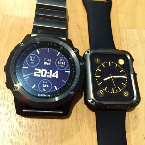 fenix 3 vs apple watch